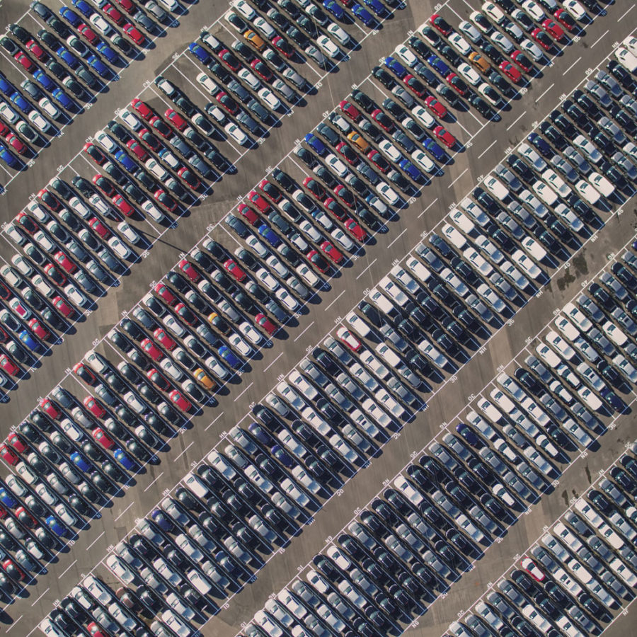 Parking Lots in a World of Self-Driving Cars