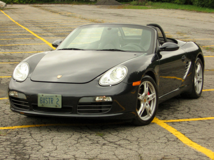 2008 Porsche Boxster top down