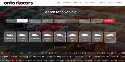 OntarioCars.ca is a used car website of Ontario dealerships