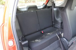 Scion iQ back seat