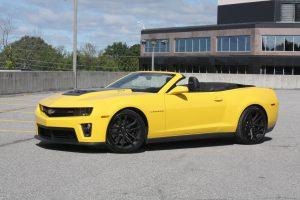 Yellow Chevrolet Camaro Covertible
