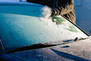 Removing Frost From Windshield