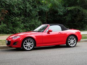 Pretty Red Mazda Miata Sports Car