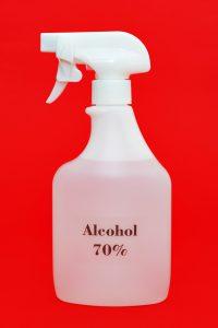 70% alcohol spray for protection against Coronavirus