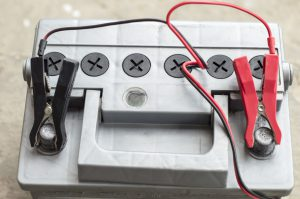 Charging electric shock the vehicle battery